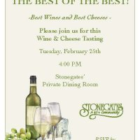 February 25th Wine & Cheese Tasting